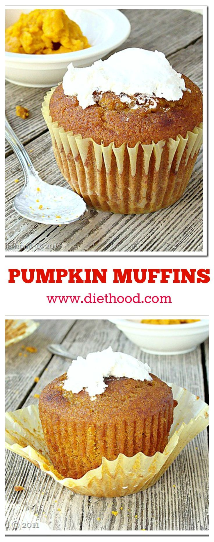 Pumpkin Muffins - The best Muffins on the planet!!
