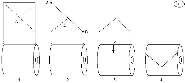 how to make an isosceles triangle with paper