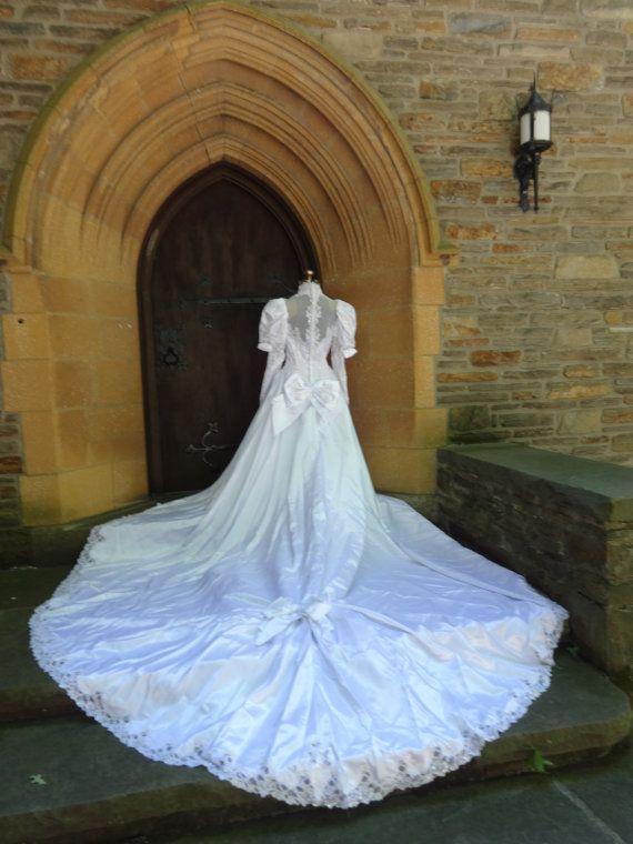 Sposa vintage abito bianco degli anni ' 80 belle del Sud