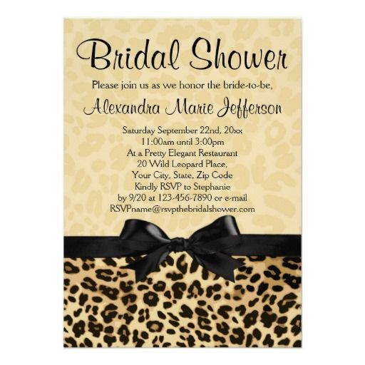 17 Best images about Animal Print Wedding Invitations – Custom Printed Wedding Invitations