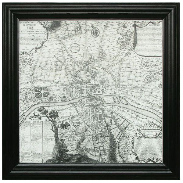 Paris District Map Wall Art http://strutliving.com.au/wall-art/531-paris-district-map.html