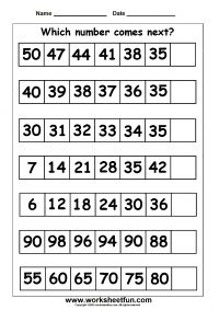 number patterns number series 1 worksheet test prep first grade math worksheets first. Black Bedroom Furniture Sets. Home Design Ideas