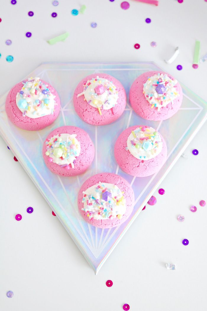 """Gem sprinkled cookies from a Shiny Pastel """"She's a Gem"""" Birthday Party on Kara's Party Ideas 