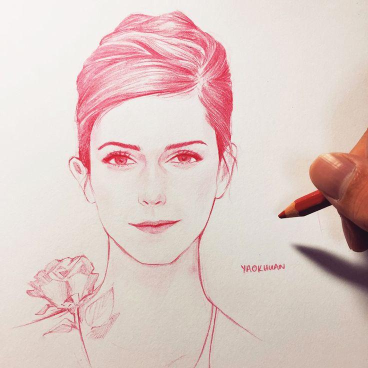 emma watson pencil drawing