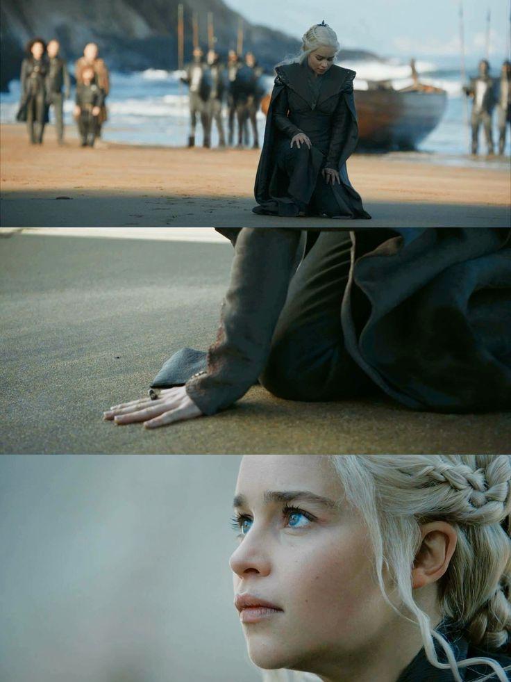 Arrival at Dragonstone, game of thrones season 7 episode 1, Daenerys Targaryen, Emilia Clarke