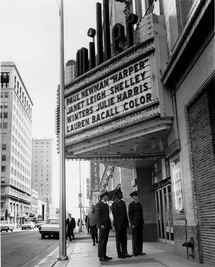 Movie theater marquees from the 1950s1970s movie
