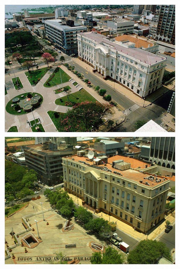 BNF y Plaza de la democracia de Asunción - Paraguay