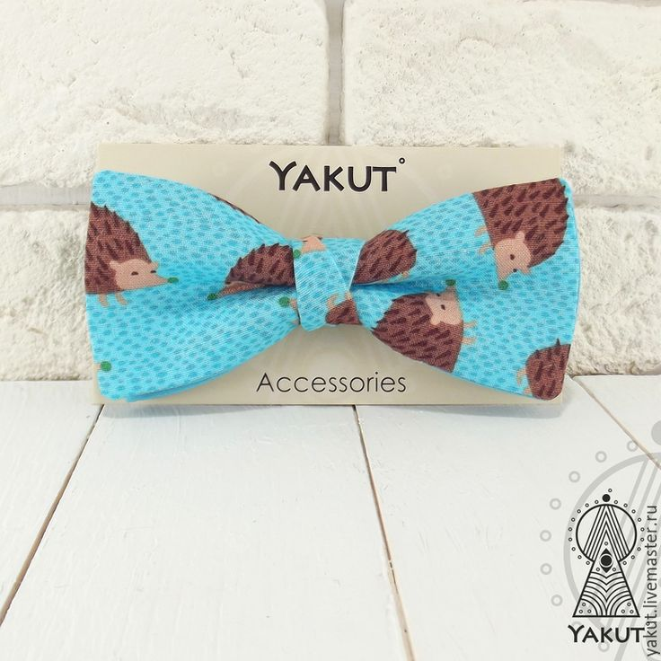 Купить Галстук бабочка Ежиная история / бабочка-галстук с ежиками - бабочка, галстук бабочка