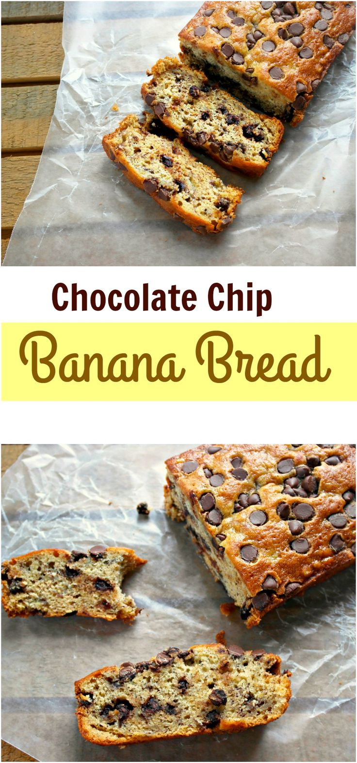 Sweetened with ripe bananas, this Chocolate Chip Banana Bread is a favorite for many who love using budget friendly ingredients to make special treats for their family. - Teaspoon Of Goodness