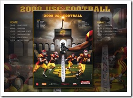 """The 2008 USC football schedule.  The football season that was chronicled in the book """"Always Complete"""". #rothzroom"""