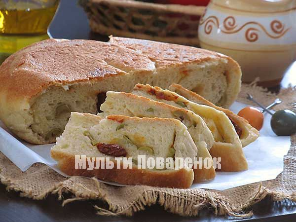 Итальянский хлеб в мультиварке: рецепт пшеничного хлеба с оливками и сушеными помидорами