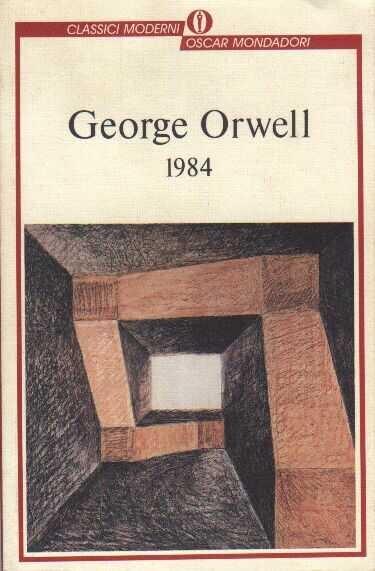 Un libro che è archetipo del genere distopico (riporto la copertina dell'edizione che ho letto anche se preferisco di gran lunga quella della versione originale inglese).