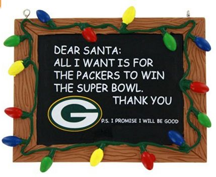 NFL Green Bay Packers Resin Chalkboard Sign Holiday Christmas Ornament... #packers #greenbay