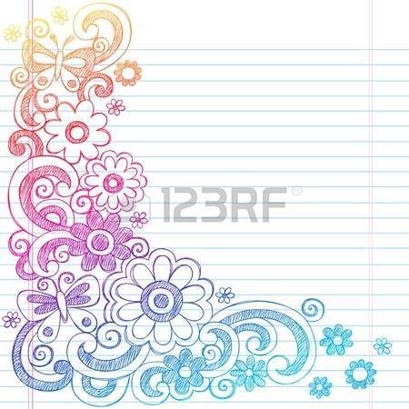 春の花のパワーと並ぶスケッチ ブック [背景に用紙を学校大ざっぱなノートの落書きイラスト デザインに戻る蝶 photo