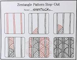 Afbeeldingsresultaat voor zentangle patterns for beginners step by step