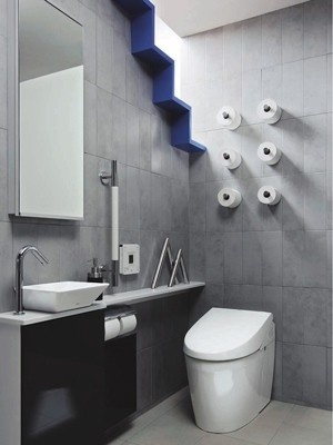 great toilet paper idea! (Waaaa, if i ran out of one of them, i wont need to reach the stroage with penguin walking style)
