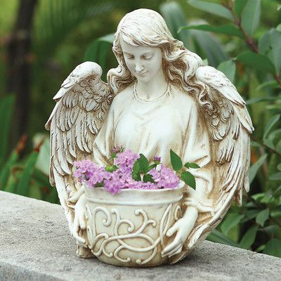 Breath-taking Angel bust planter! That and many more great statues for gardens, patios, etc. Available at our Love shop <3