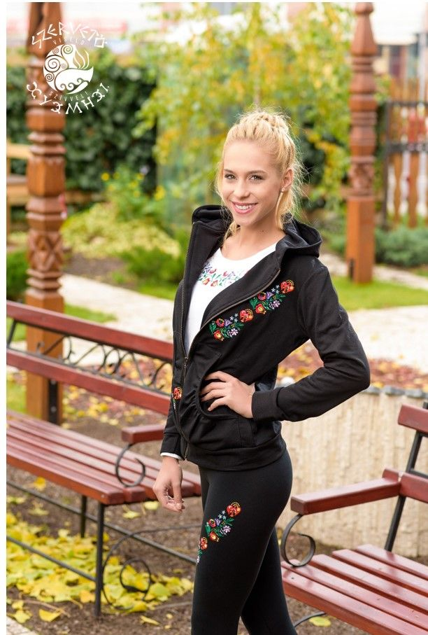 Szervető, kalocsai, hooded, cardigan, folk art, Hungary, embroidery, sweater, clothes, fashion