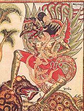Garuda according to Ida Made Tlaga, a 19th-century Balinese artist