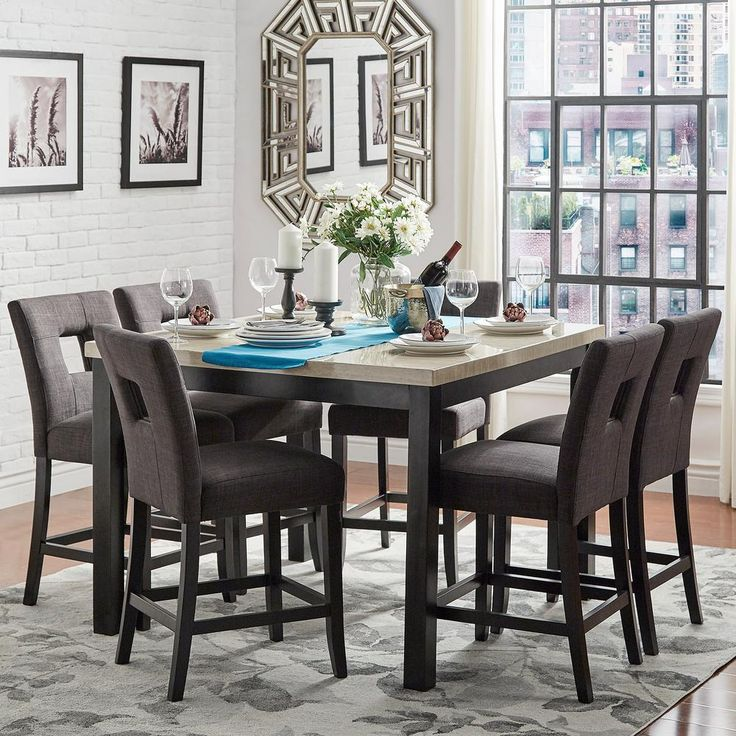 Sorrento 7-Piece Counter Height Dining Set in