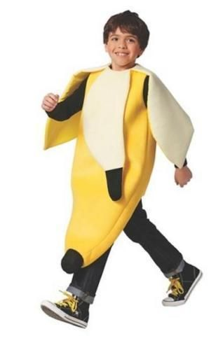 BANANA COSTUME CHILD SIZE S / M 4-10 DELUXE YOUTH HALLOWEEN COSTUME *BRAND NEW…