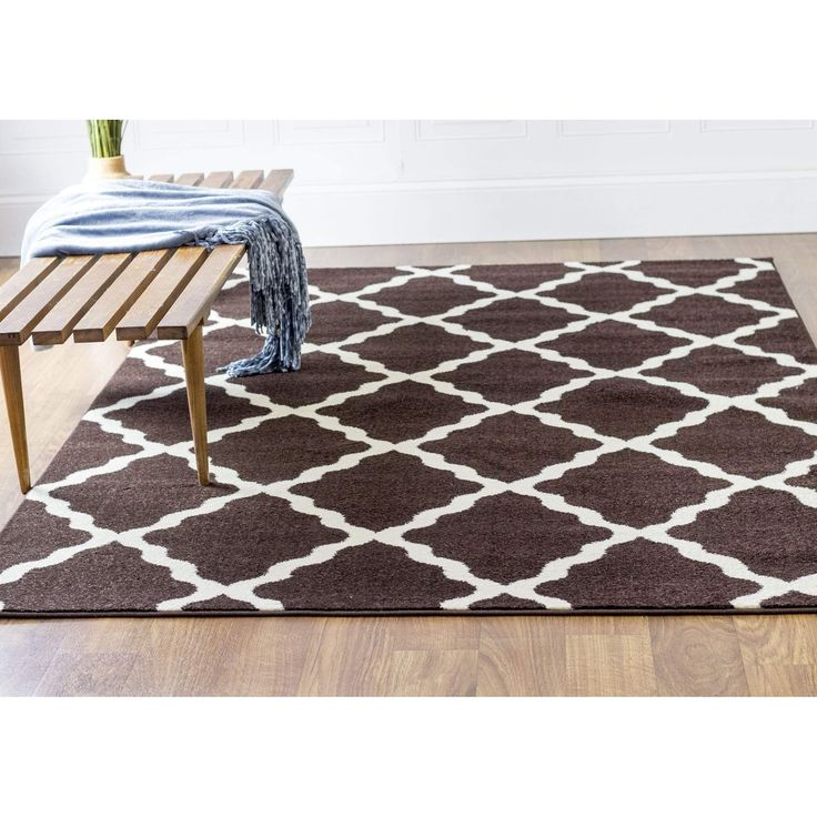 Transitional Rug Brown High Quality Carpet Polypropylene  #carpet #floors #myhomeisbetterthanyours #homedecor #classy #homedesign #interiorstyling #rugs #decorating #floordecor