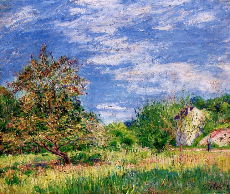 The Factory at Sevres - Alfred Sisley - WikiPaintings.org: