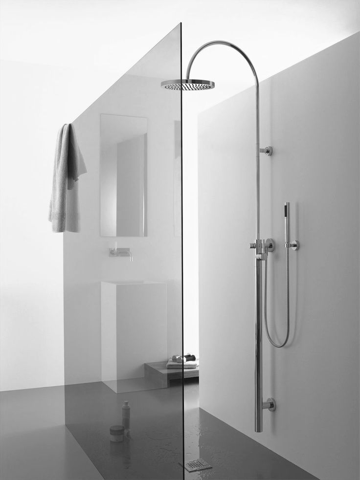 Minimalist Bathroom Glass Shower Modern Design