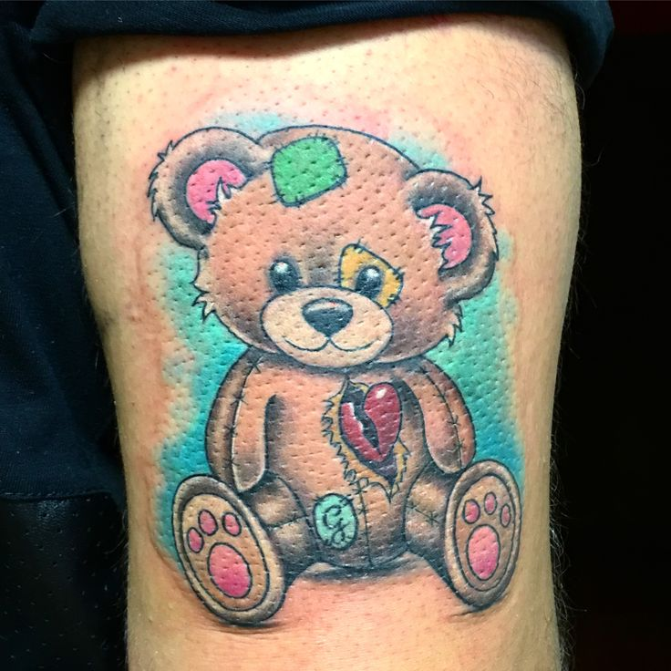 Cute bear, orsacchiotto, bear tattoo