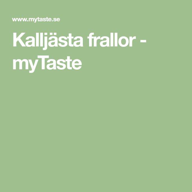 Kalljästa frallor - myTaste