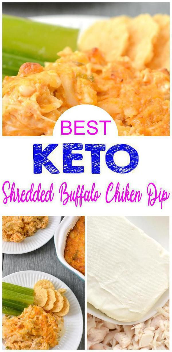 Keto Shredded Buffalo Chicken Dip