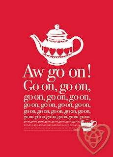 Irish design: Mrs. Doyle's cuppa catchphrase from Father Ted has never-ending appeal in this poster by Jane Steger-Lewis of I Love Mayo. It also fits nicely into IKEA's Virserum frame, which is handy. www.ilovemayo.com