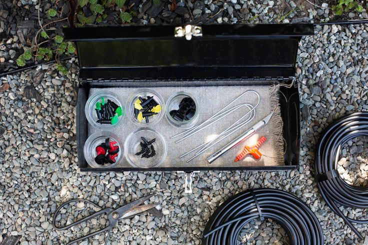 Drip irrigation systems are easy to fix and expand. Keep a few supplies like emitters, connectors and tubing in a DIY drip irrigation emergency kit: