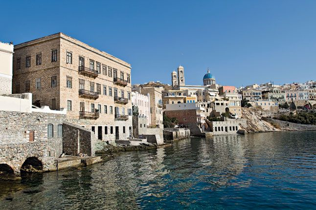 Ermoupolis, the chief town on the island of Syros and of all of the Cyclades   Syros is the administrative, commercial and cultural capit...