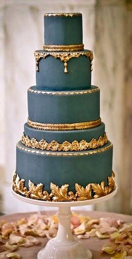 Indian Weddings Inspirations. Blue Wedding Cake. Repinned by #indianweddingsmag indianweddingsmag.com