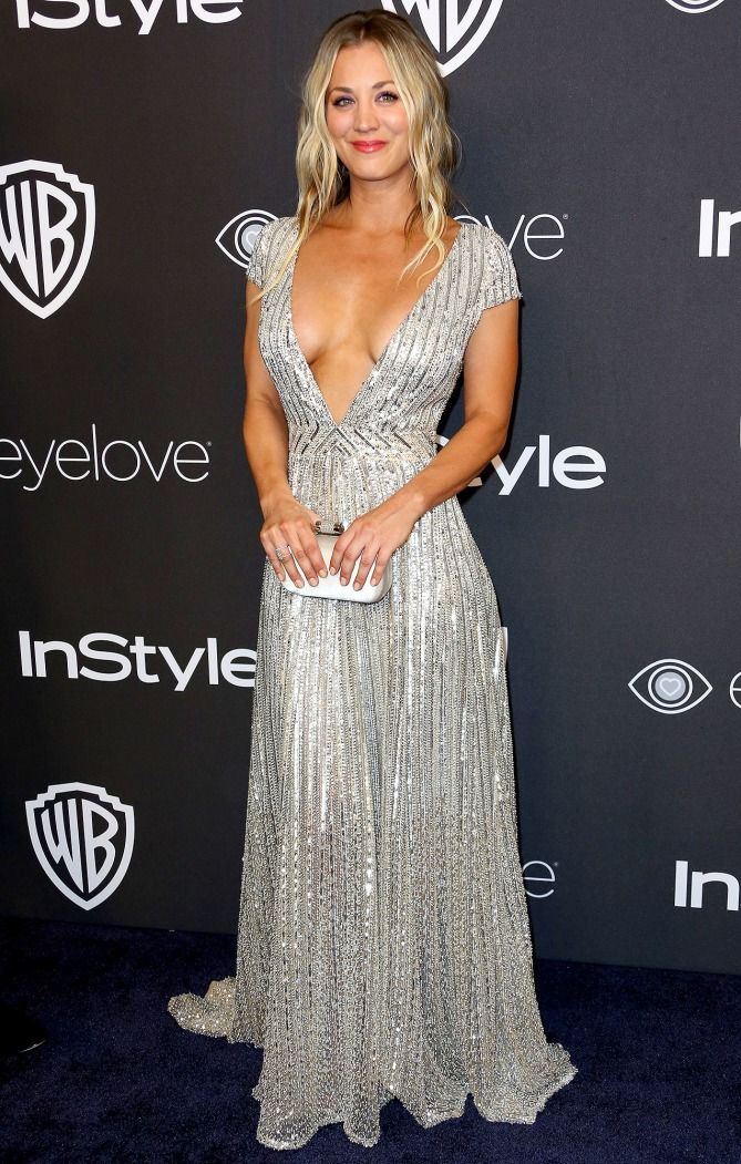 Golden Globes 2017: Best Afterparty Dresses - Kaley Cuoco