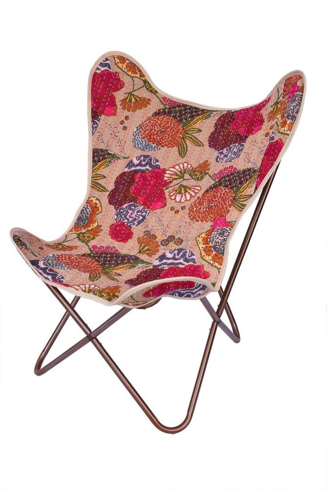 Exceptionnel Beige Fruit Kantha Replacement Butterfly Chair Cover   Only Cover #Handmade  #Modern