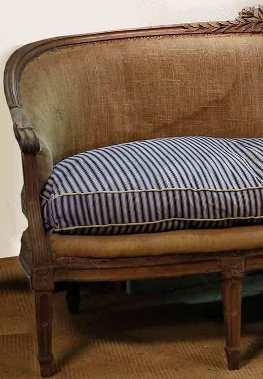 Stunning Antique 18th Century Louis Xvi Period 2 Seater