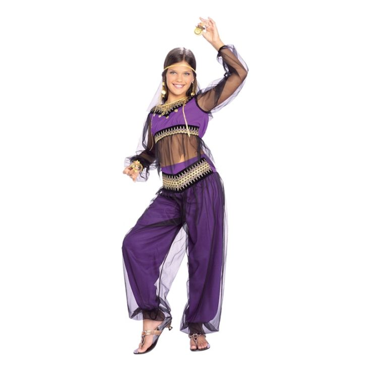 Med den här söta kostymen så kan alla små flickor förvandlas till förtrollande arabiska prinsessor, som hämtade från Tusen och en natt. I kostymen ingå...