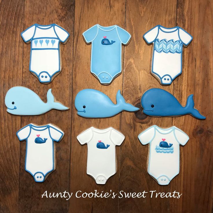 Whale Themed Baby Shower Cookies by Aunty Cookie's Sweet Treats