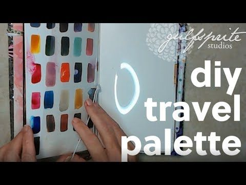 Diy Travel Watercolor Palette Watercolor Watercolorpainting