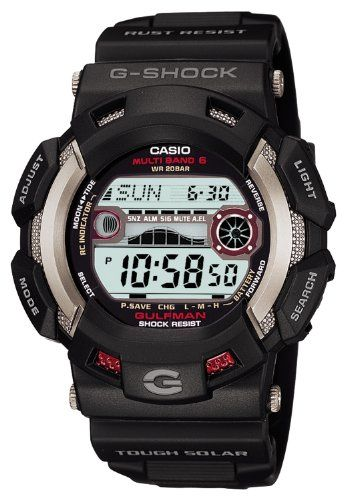 CASIO G-SHOCK GULFMAN Tough Solar Radio Controlled MULTIBAND6 GW-9110-1JF (Japan Import) - http://www.the-solar-shop.com/casio-g-shock-gulfman-tough-solar-radio-controlled-multiband6-gw-9110-1jf-japan-import/