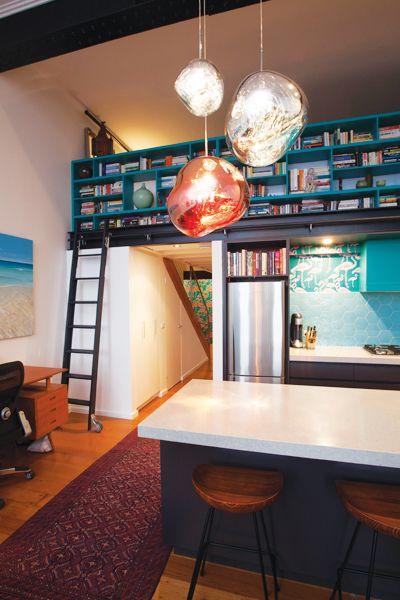 Perini - Collingwood Kitchen Renovation - Featuring Tom Dixon 'Melt' Pendant light.  Contact Perini Kitchens & Bathrooms, Richmond for your home renovation! (03) 9429 6399