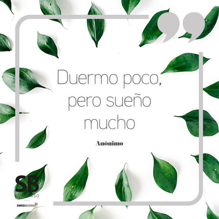 Duermo poco, pero sueño mucho - Anónimo ------------------ #SBDescanso #Frase #Frases #Quote #Quotes