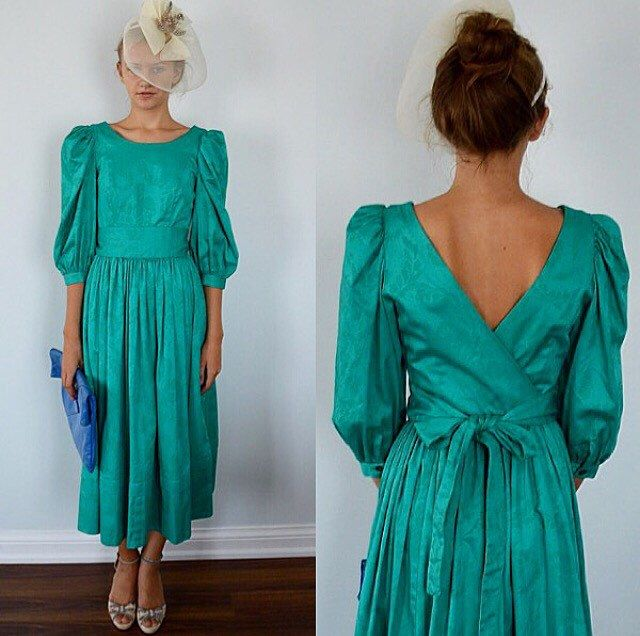 A personal favorite from my Etsy shop https://www.etsy.com/ca/listing/285752785/vintage-laura-ashley-green-cotton-dress