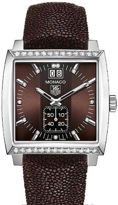 Réplique Montre Tag Heuer Monaco Quartz Femmes WAW1316.EB0025