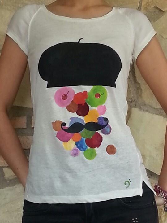 Camiseta pintada a mano #detache