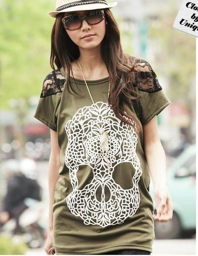 Great shirt!: Asian Fashion Beauty, Fashion Beauty Inspirations, Skull Shirts, Style, Clothes, Lace Sleeve, Japanese Fashion, Delicious Skulls