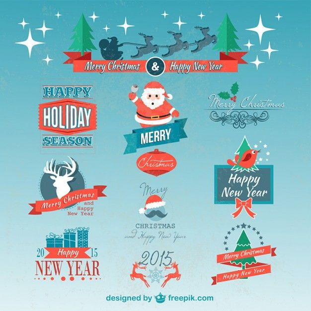 Free Download: Christmas badges pack vector resources  Christmas  from the storeroom @ POTW