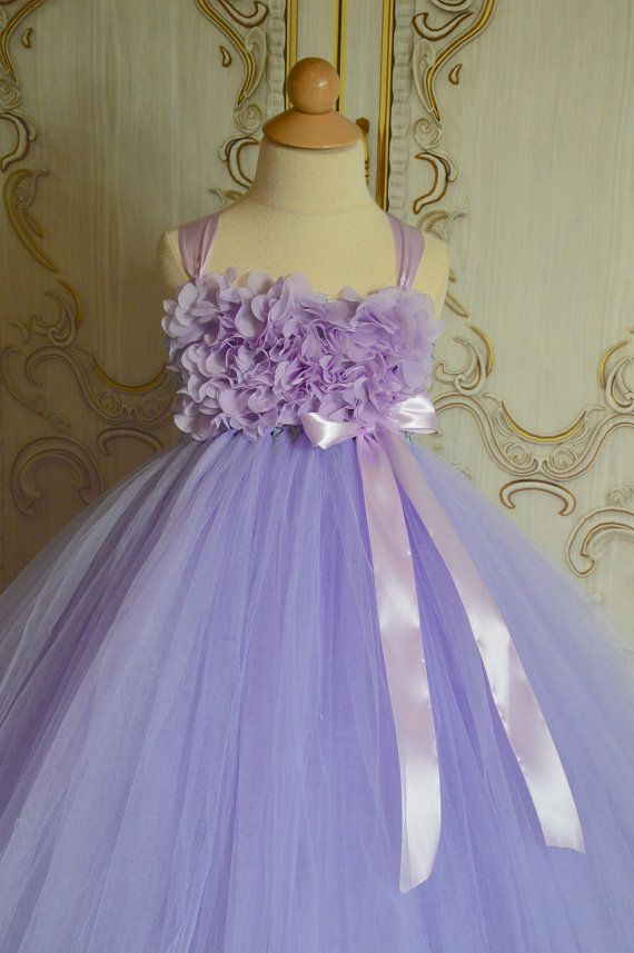 Lavender Hydrangea flower girl tutu dress by TutuSweetBoutiqueINC